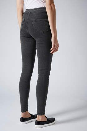 MOTO Washed Black Joni Jeans