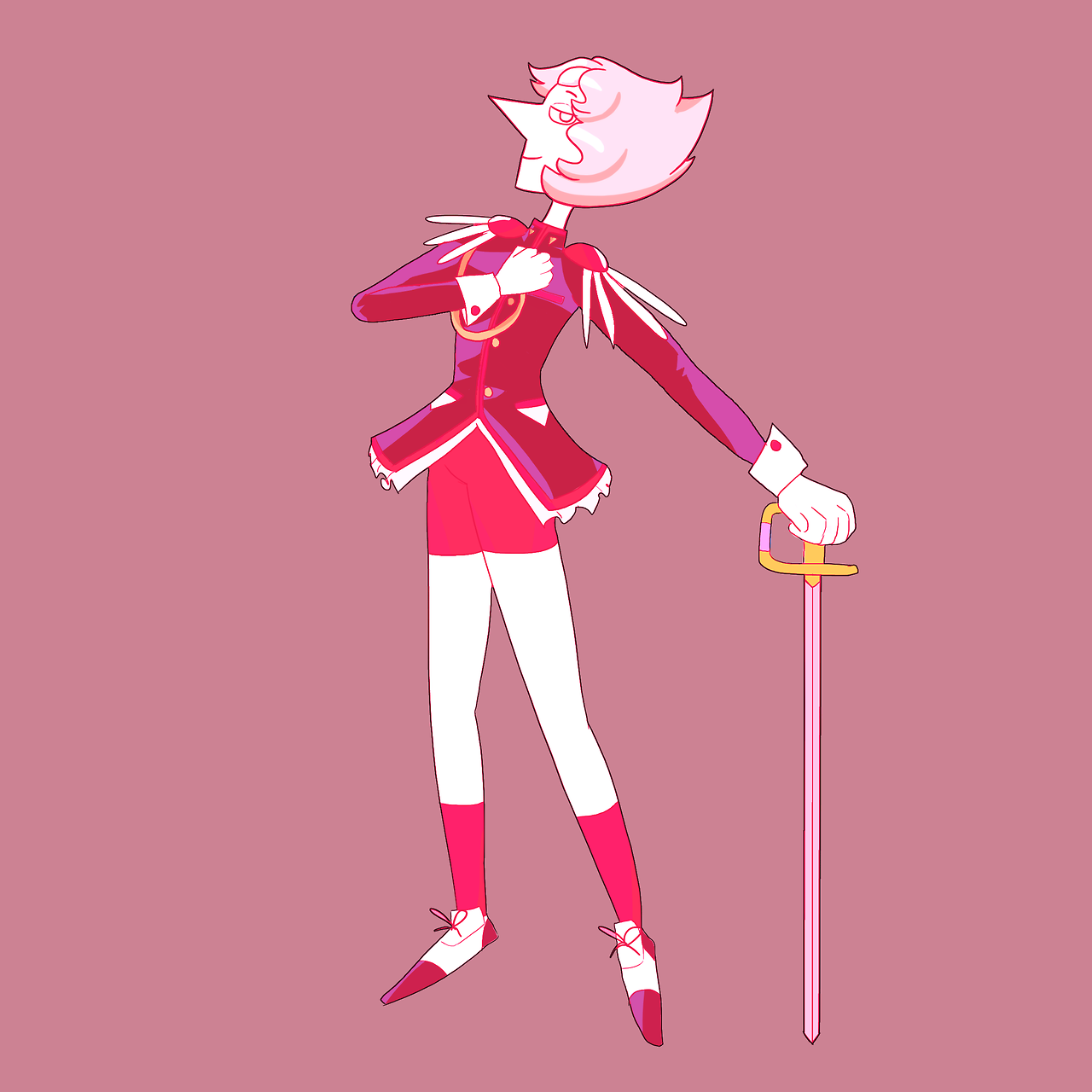 made pearl look like that one anime with the gays and swords
