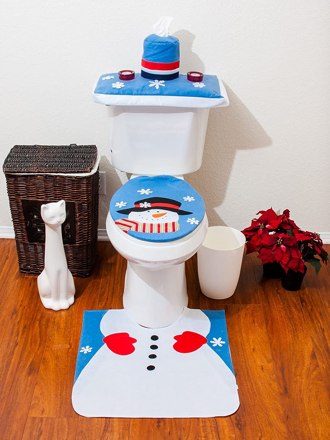 happy living: brighten your bathroom with attractive christmas