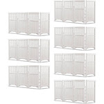 Suncast Outdoor Garden Yard 4 Panel Screen Enclosure Gated Fence, White (7 Pack) by VM Express