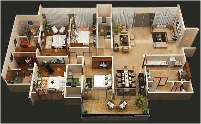 Denah Rumah Minimalis 3 Kamar Tidur | Ide Rumah Minimalis