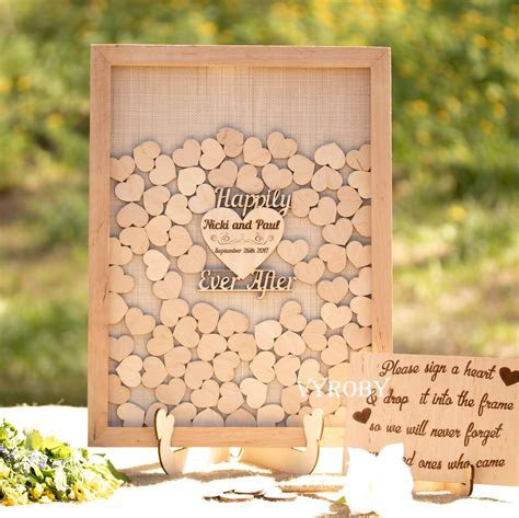 Rustic wedding guest book alternative wood Wedding