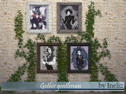 The Sims Resource: Gothic gentlemen by Ineliz • Sims 4 Downloads