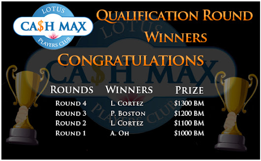 Invitation to Play Final Round of Cash Max 2014 Leaderboard Competition