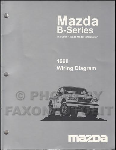 1998 Mazda B4000 B3000 B2300 Pickup Truck Wiring Diagram ...