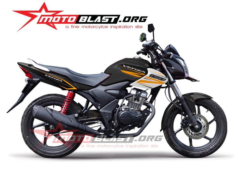 Striping Honda Verza 150 Hitam 2014 MOTOBLAST