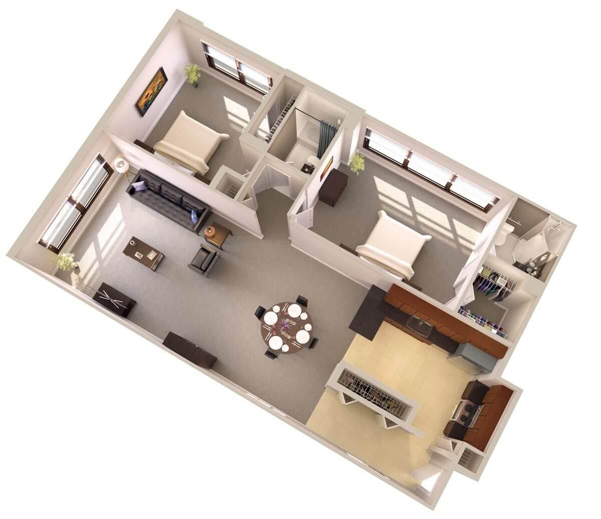 Two Bedroom Apartments Near Metro | Topaz House