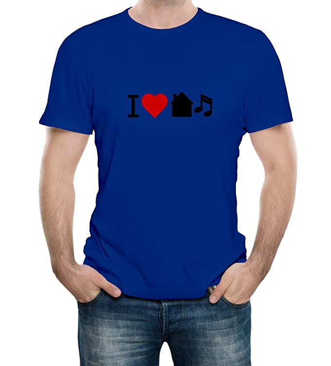 Amazon.com: I Love House Music Adult T-Shirt: Clothing