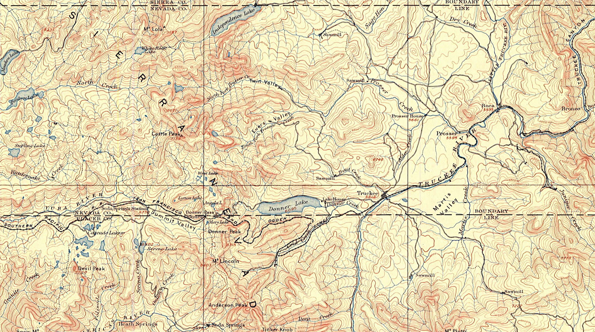 Truckee USGS folio, 1889