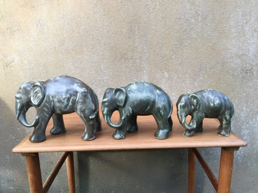 On Quirky Sunday we bring you an elephant figurine trio to | Etsy