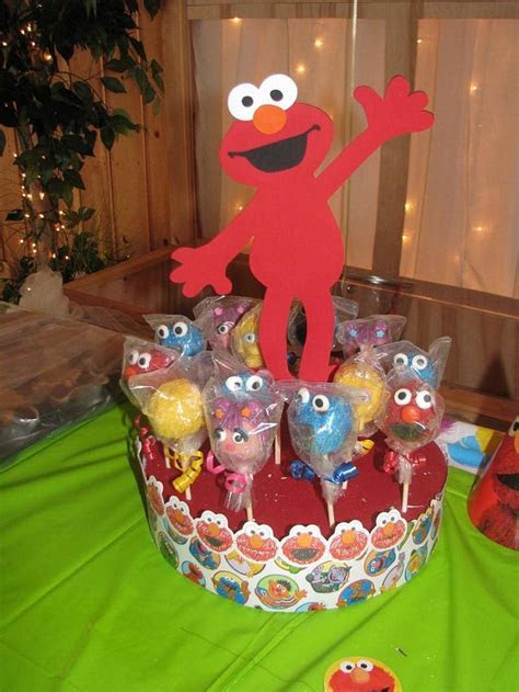 Sesame Street Or Elmo  Cake Pop   Cupcake or by
