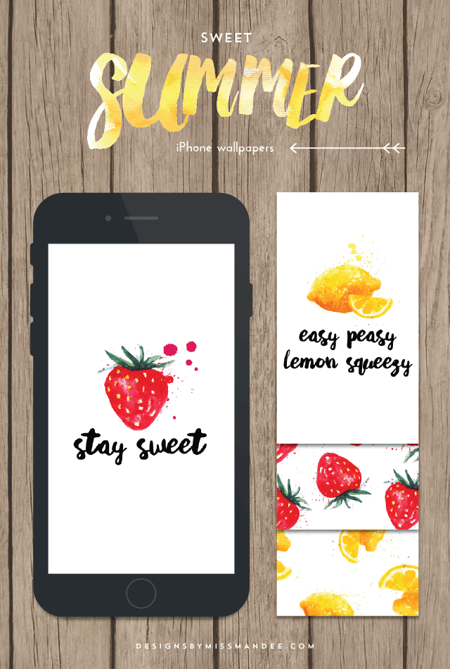 Sweet Summer iPhone Wallpapers