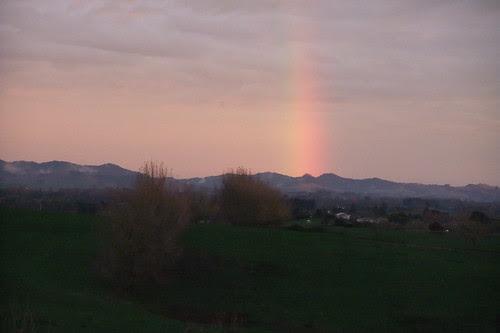 rainbow north of Hamilton, NZ