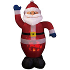 Santas Forest 90325 Inflatable Santa with Projector, 6 ft H