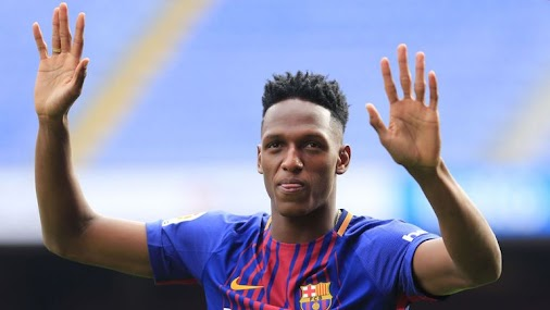 Yerry Mina has joined Barcelona from Palmeiras for £10m.
