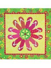 Flip Flop Flowers Quilt Pattern