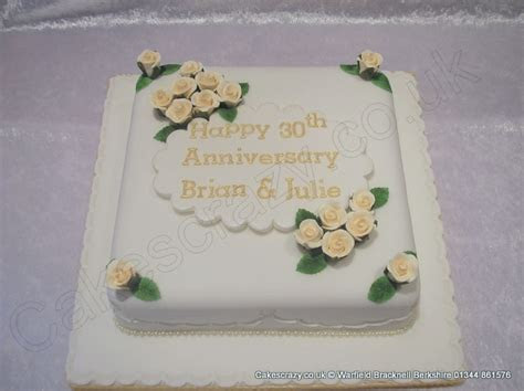 8 best 30th Wedding Anniversary Cakes images on Pinterest