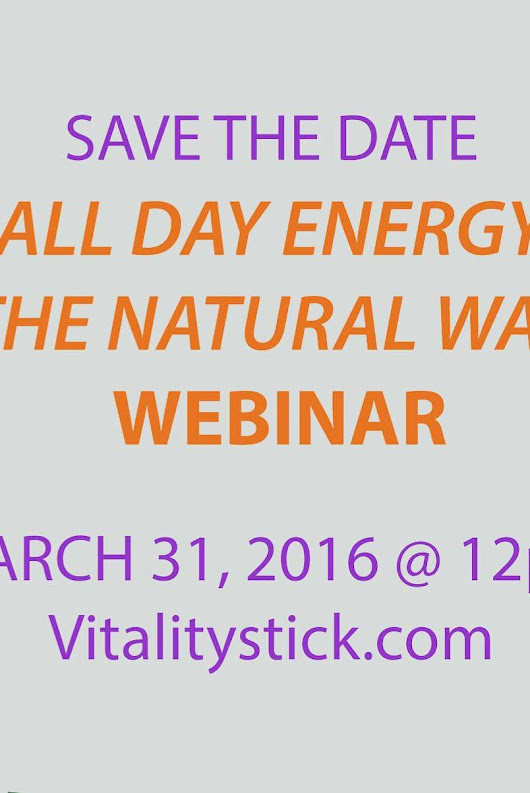 All Day Energy-The Natural Way by Bobbye Brooks