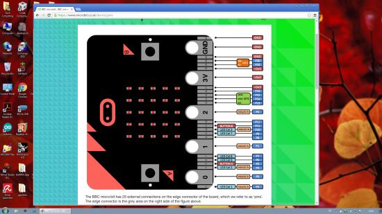 micro:bit pinout GPIO