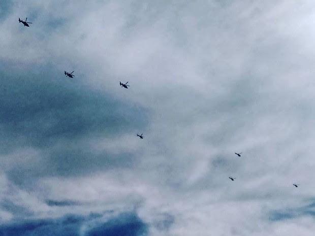 Helicópteros do Cavex de Taubaté são deslocados para Olimpíada no Rio de Janeiro (Foto: Thiago Leon/Arquivo Pessoal)