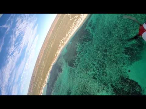 R/C Plane Crashes into the Sea. Underwater Scenes.