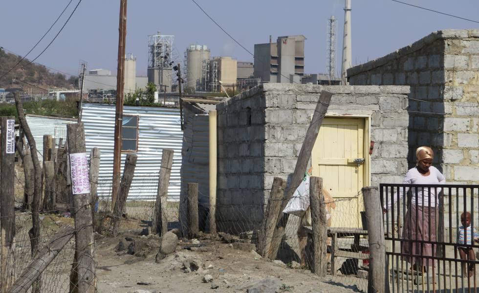 Un asentamiento informal en Marikana (Sudáfrica).