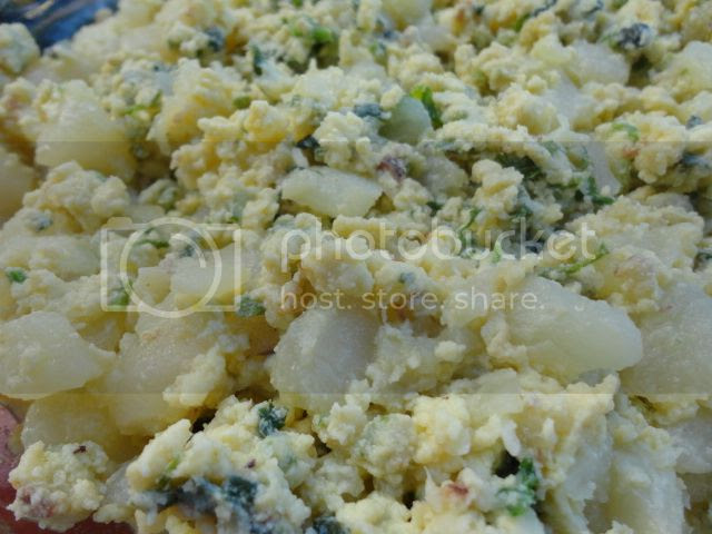 Christophene(Chayote) and Scrambled Egg Dish