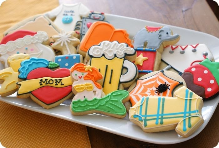 cookies from the book, Decorating Cookies by Bridget Edwards