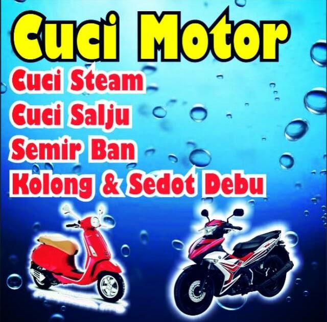 Contoh Spanduk Cuci Steam Motor - gambar spanduk
