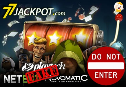 77Jackpot Presents Pirated NetEnt, Novomatic and Playtech Games - 2nd of Jun 2016
