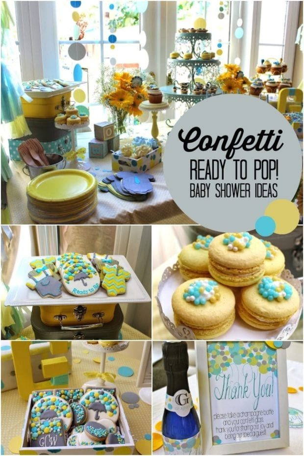 A Confetti Boy Baby Shower | Spaceships and Laser Beams