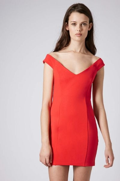 Topshop Bardot Jersey Dress