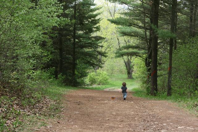 Oliver on a hike
