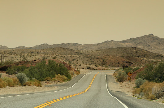 Traveling Route 66 California Desert by Colleen Cornelius