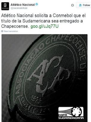 Twitter do Nacional de Medellín