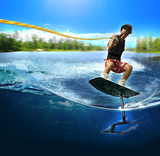 Crazy Foil | CrazyFoil.com – Now you can fly! The hydrofoil that attaches in minutes – use with any wakeboard or kite.