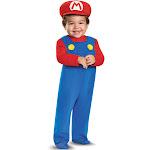 Disguise Super Mario Bros Toddler Costume, Blue/Red