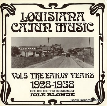 V/A louisiana cajun music vol.5 the early years 1928-1938