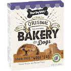 Three Dog Bakery Treats for Dogs, Grain Free Woofers, with Peanut Butter and Banana Flavor - 13 oz