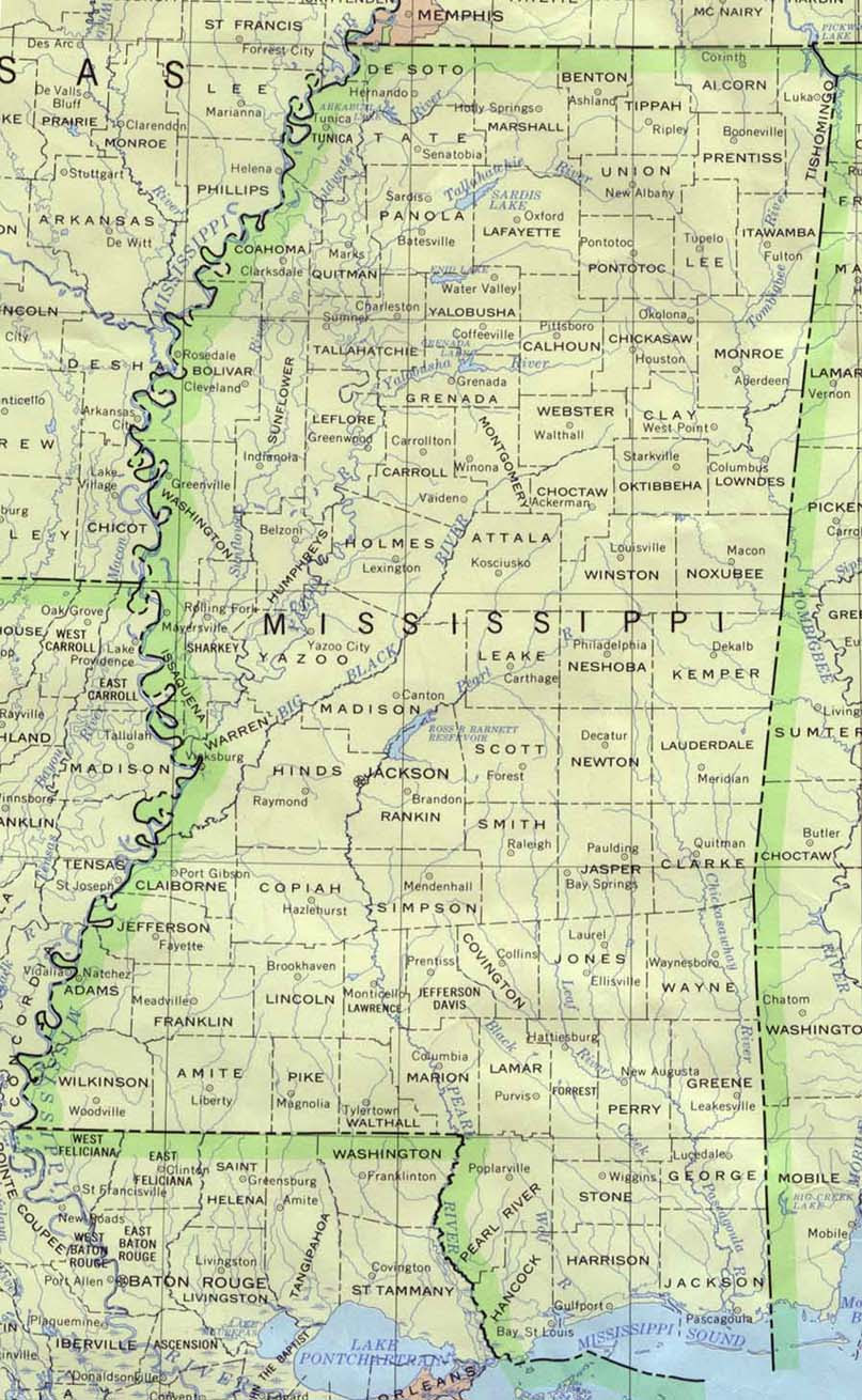 Mississippi Maps Perry Castaneda Map Collection Ut