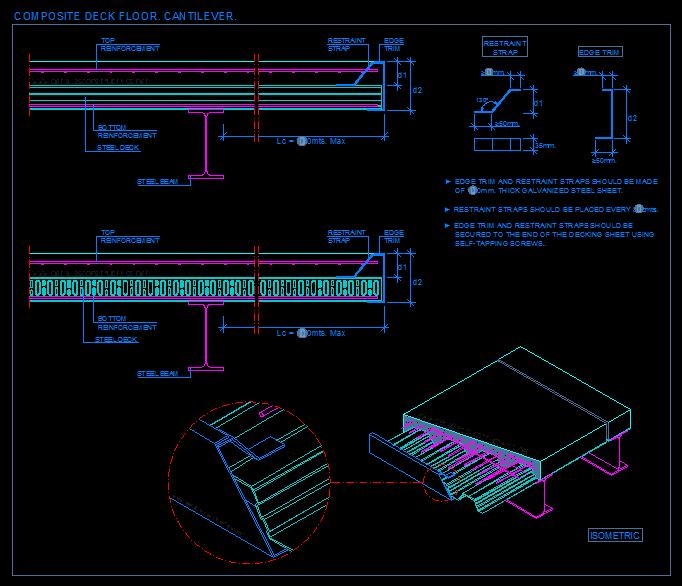 cantilever_framing_composite_steel_deck_decking_floor_slab_sheets_steel_beam_connection_rc_stahltrager_Stahltrapezprofil_Verbunddecken