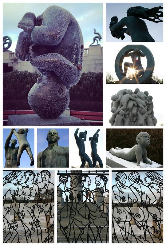 Vigeland Park Collage