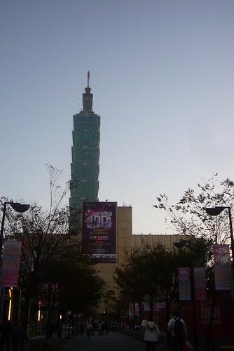 12月31日傍晚的台北101