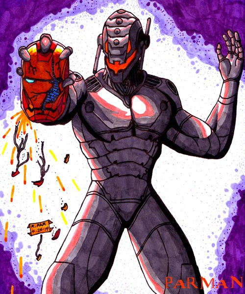 My drawing of Ultron from AVENGERS: AGE OF ULTRON.