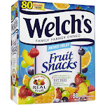 Welch's Fruit Snacks Mixed Fruit - Snack - 0.9 oz - pack of 80