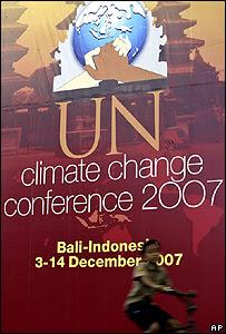 巴厘全球氣候變暖會議廣告牌