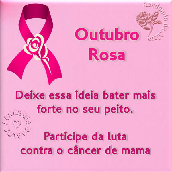 Outubro Rosa Deixe essa ideia bater mais forte no seu peito. Participe da luta contra o câncer de mama.