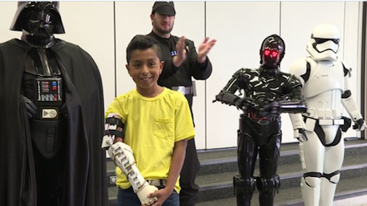 Young STAR WARS Fan Surprised with 3D-Printed Arm from Darth Vader | Nerdist