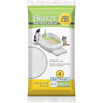 Purina Tidy Cats Breeze Litter System Cat Pad Refill, Unscented - 4 count