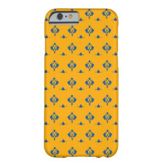 Blue and Deep Yellow Design on iPhone 6 Case